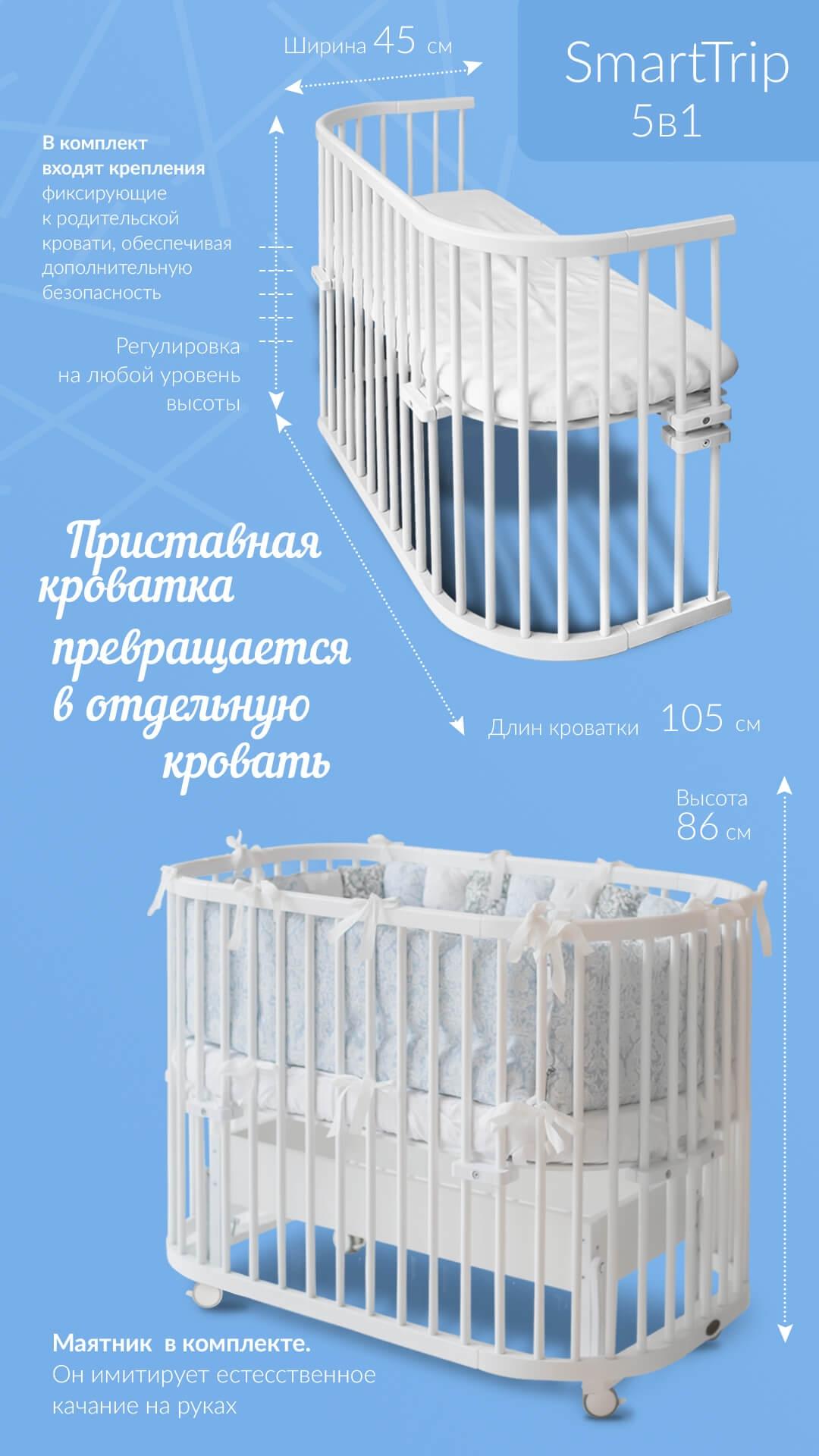 SmartTrip превращение кроватки