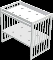 Способ трансформации: пеленальный столик