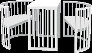 Способ трансформации: стол и два стула